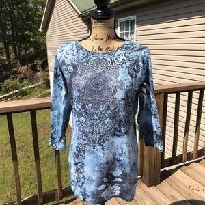 B.L.U.E Long sleeve embellished top